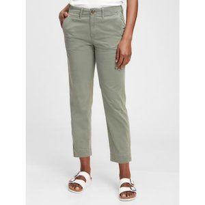 ROOTS Army Green Elastic Waist Slim Hiking Pants